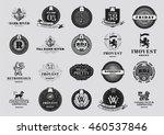 set luxury logos template.... | Shutterstock .eps vector #460537846