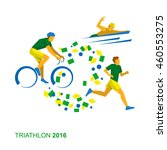 triathlon in the colors of the... | Shutterstock .eps vector #460553275
