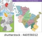 map of schleswig holstein | Shutterstock .eps vector #460558312