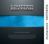 vector banner or flyer design... | Shutterstock .eps vector #460558456
