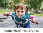 smiling little girl on a... | Shutterstock . vector #460572646