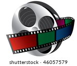 illustration of  filmstrip ... | Shutterstock .eps vector #46057579