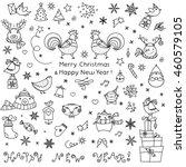 Christmas Doodle Icons Set....