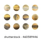 set of black and gold circles... | Shutterstock . vector #460589446