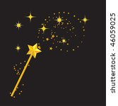 magic wand with stars | Shutterstock .eps vector #46059025