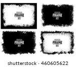 grunge frame texture set | Shutterstock .eps vector #460605622