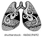 illustration of lungs. doodle... | Shutterstock .eps vector #460619692
