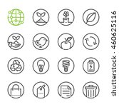 ecology icons with white... | Shutterstock .eps vector #460625116