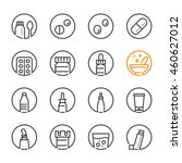 pharmacy and medical icons with ... | Shutterstock .eps vector #460627012