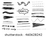 pencil stroke set. sketch... | Shutterstock . vector #460628242