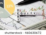 debt and equity letter cube on... | Shutterstock . vector #460630672