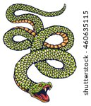 vector image of green snake for ... | Shutterstock .eps vector #460635115