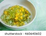 tapioca pearl pudding and corn...   Shutterstock . vector #460640602