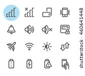 mobile phone icons with white... | Shutterstock .eps vector #460641448