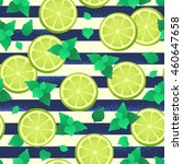 seamless pattern with lime ... | Shutterstock .eps vector #460647658