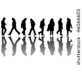 people black silhouettes ... | Shutterstock .eps vector #46066603