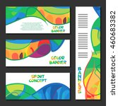 colorful template design... | Shutterstock .eps vector #460683382