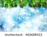 christmas snow fir tree... | Shutterstock .eps vector #460688422