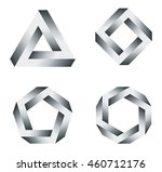 penrose triangle and polygons... | Shutterstock .eps vector #460712176