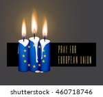 candles flag colors for...   Shutterstock .eps vector #460718746