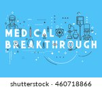 medicine concept breakthrough.... | Shutterstock . vector #460718866