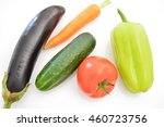 Vegetables On White Background...