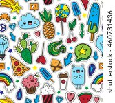 colorful fun seamless pattern... | Shutterstock .eps vector #460731436