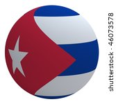 cuba flag on the ball isolated... | Shutterstock . vector #46073578