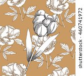 seamless pattern with black and ... | Shutterstock . vector #460741972
