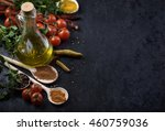 various food ingredients and... | Shutterstock . vector #460759036