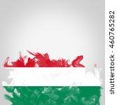 flag of hungary  digital art...   Shutterstock . vector #460765282