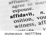 Small photo of Affidavit