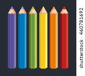 vector colorful crayon pencils | Shutterstock .eps vector #460781692