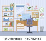 workspace for freelancer in... | Shutterstock .eps vector #460782466