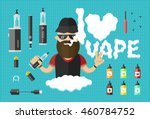 flat illustration of man with...   Shutterstock .eps vector #460784752