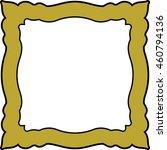 frame border square golden... | Shutterstock .eps vector #460794136