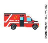 isolated ambulance vector...