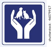 Stock vector pet protection sign vector 46079917