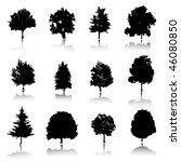 silhouette trees | Shutterstock .eps vector #46080850