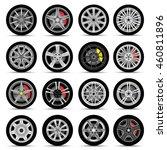 car wheels set | Shutterstock .eps vector #460811896
