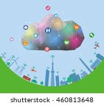 cps cyber physical system ...   Shutterstock .eps vector #460813648