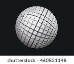 vector exploding sphere shape...   Shutterstock .eps vector #460821148