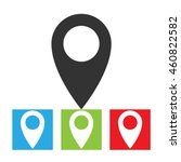 location icon. simple logo of...