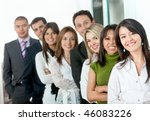 business group in a row at the... | Shutterstock . vector #46083226