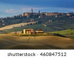 pienza italian medieval village ...   Shutterstock . vector #460847512