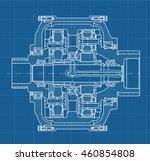 technical blueprint... | Shutterstock .eps vector #460854808