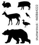 wild animals silhouette | Shutterstock .eps vector #460864222