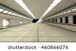 3d render interior. futuristic... | Shutterstock . vector #460866076