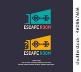 real life room escape. the logo ... | Shutterstock .eps vector #460867606