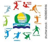 set of summer sports... | Shutterstock .eps vector #460880446